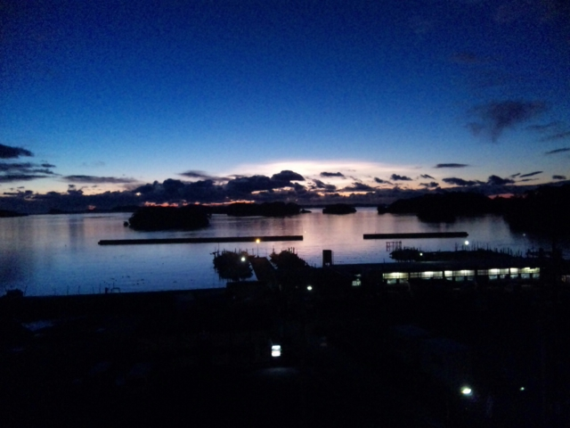 松島の夜明け