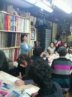 陽子さんのショップで講習会