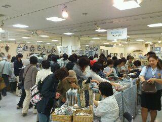 クリブキルト展in<br />  札幌 初日
