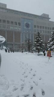 吹雪の札幌